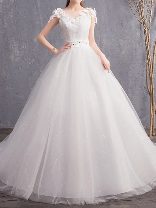 Trumpet Floor-Length Appliques Hall Wedding Dress 2020