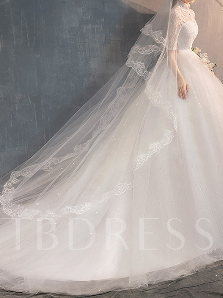 Trumpet Ball Gown Lace Floor-Length Hall Wedding Dress 2020