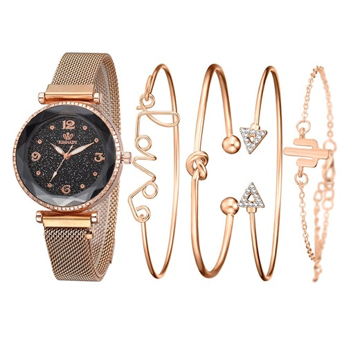 Female Quartz Round Glass Watches