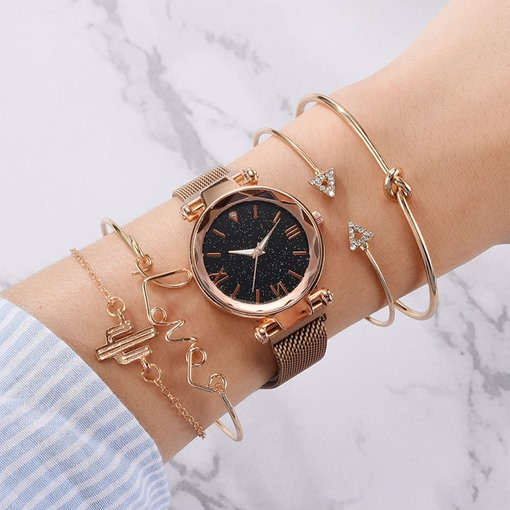 Fashion Female Round Glass Quartz Watches