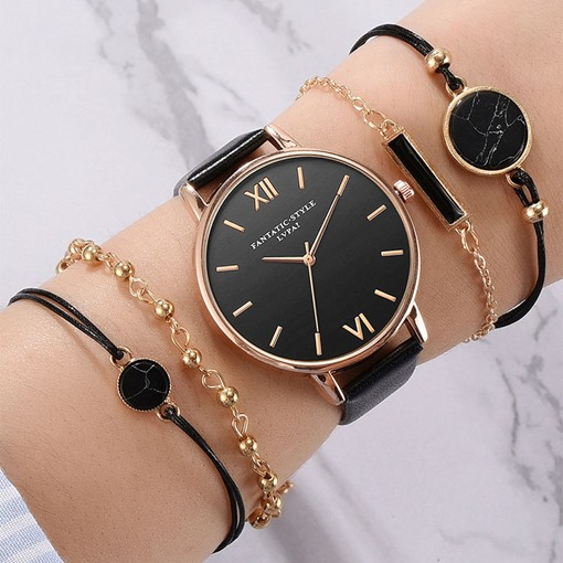 Fashion Glass Round Quartz Watches