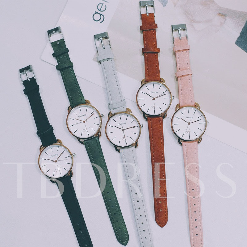 Water Resistant Round Glass Watches