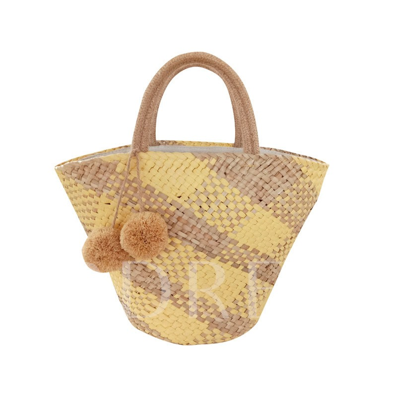 Grass Color Block Shell Tote Bags