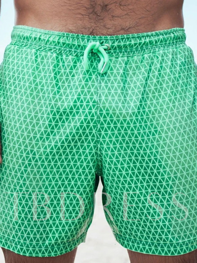 Straight Lace-Up Men's Shorts