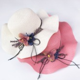 Sweet 3D Straw Plaited Article Spring Hats