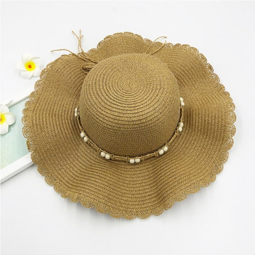Straw Hat Sweet Straw Plaited Article Spring Hats
