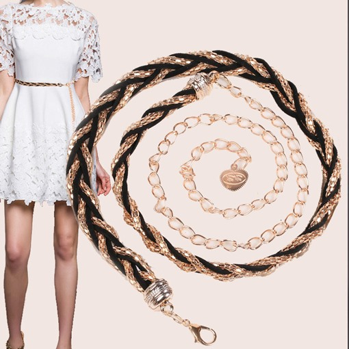 Sweet Knitted Metal Waist Chains