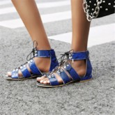 Open Toe Lace-Up Casual Sandals