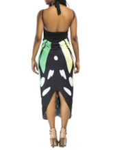 Floral Print Mid-Calf Sexy Dress Women's Beach Dresses