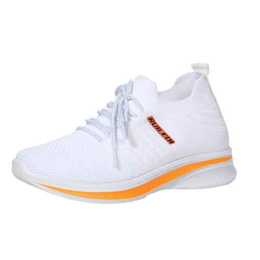 Low-Cut Upper Lace-Up Round Toe Cross Strap Casual Sneakers