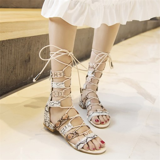 Open Toe Zipper Casual Sandals