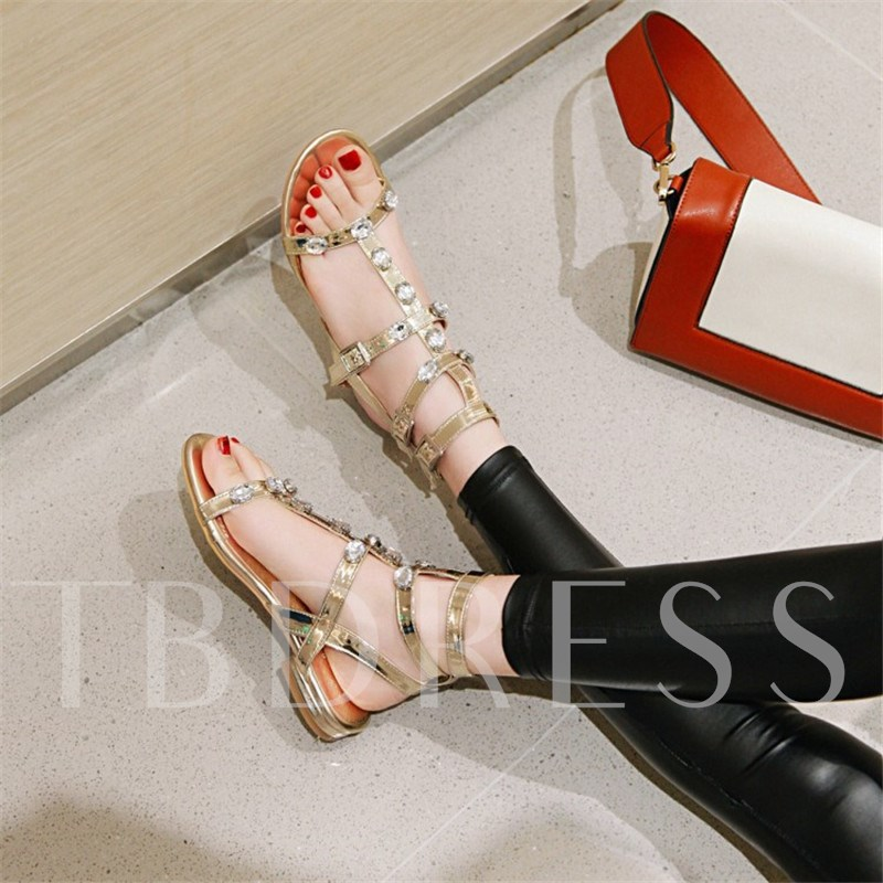Buckle Open Toe Casual Sandals