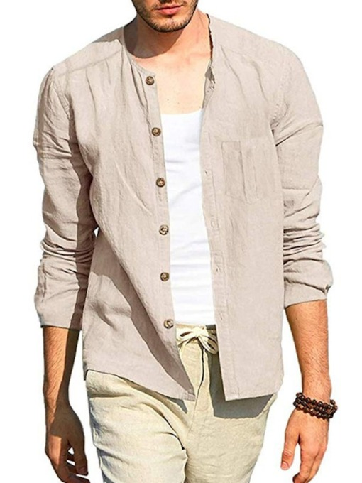 chemise homme automne col rond uni angleterre