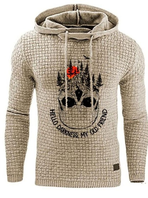 Letter Pullover Print Winter Men's Hoodies