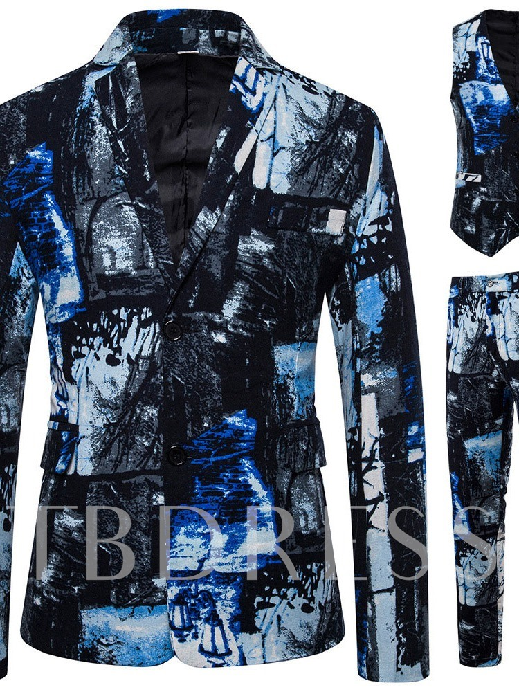 Blazer European Single-Breasted Men's Dress Suit
