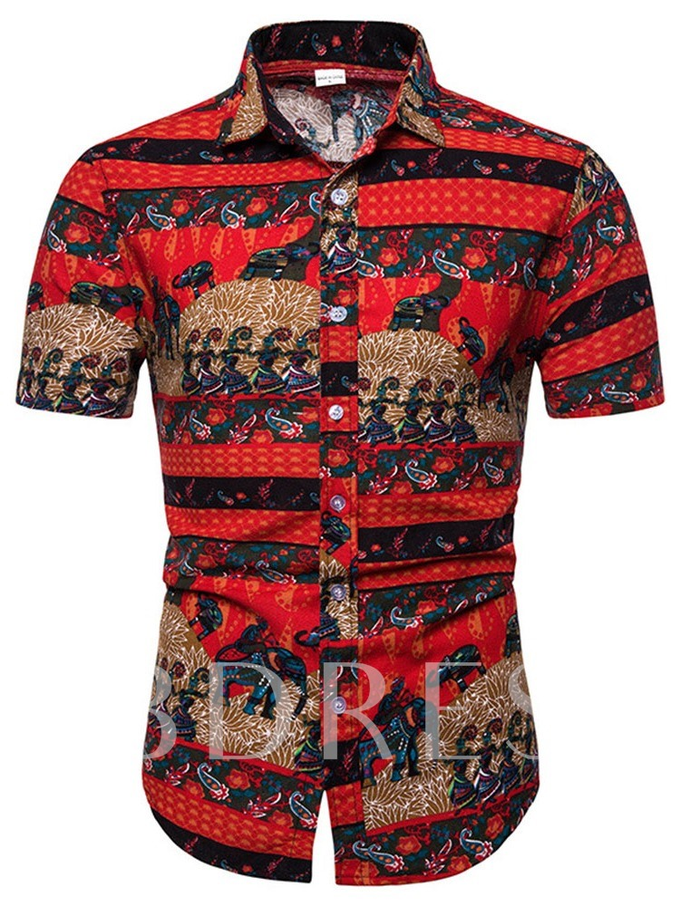 Print Casual Pants Summer Men's Outfit