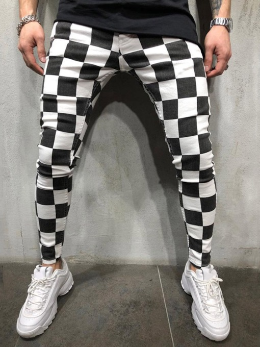 Plaid Pencil Pants Fall Men's Casual Pants