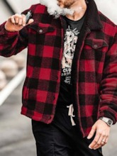Plaid Lapel Loose Men's Jacket