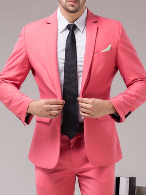 Pants One Button Formal Men's Dress Suit
