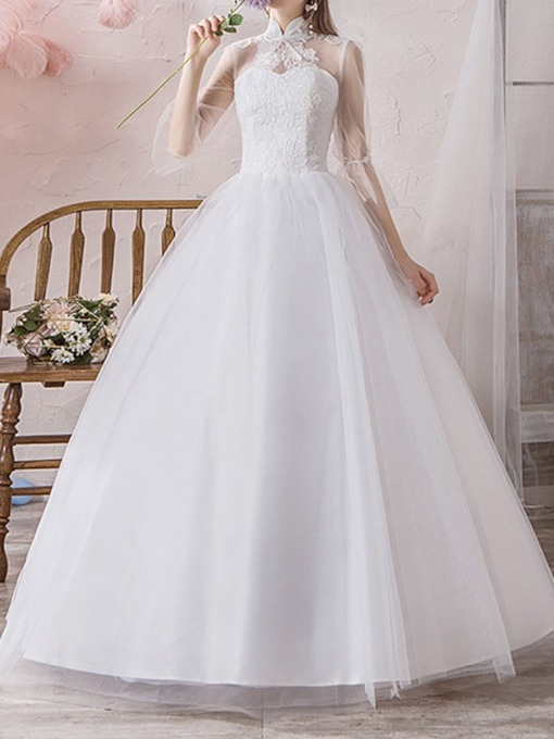 Floor-Length Ball Gown Garden Outdoor Wedding Dress 2020