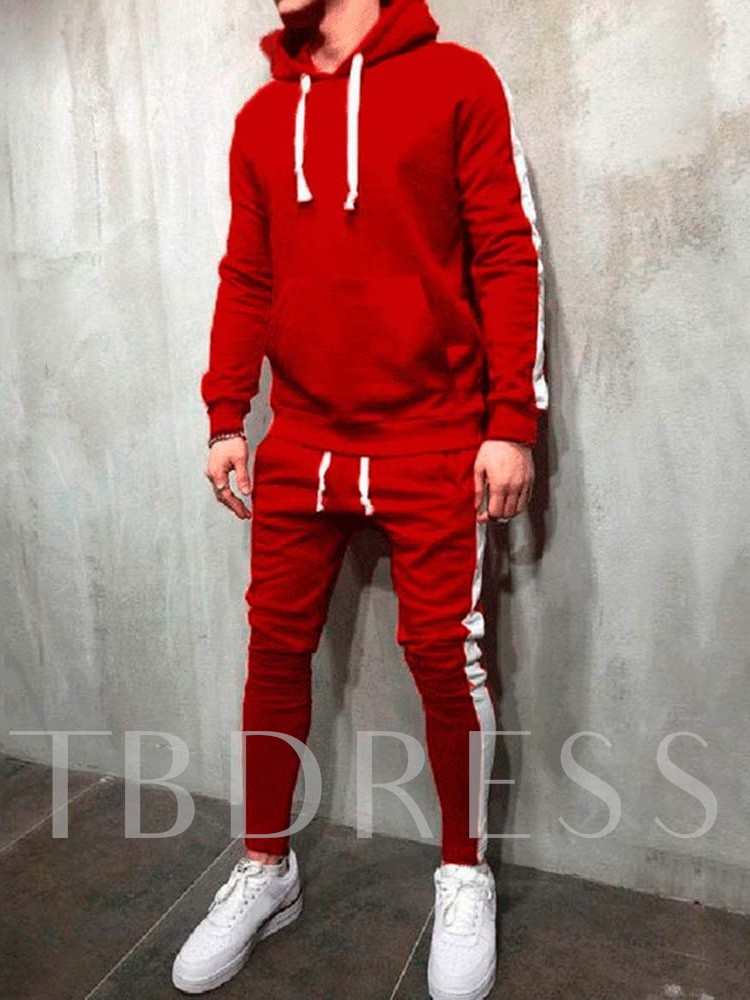 Hoodie Patchwork Color Block Winter Men's Outfit