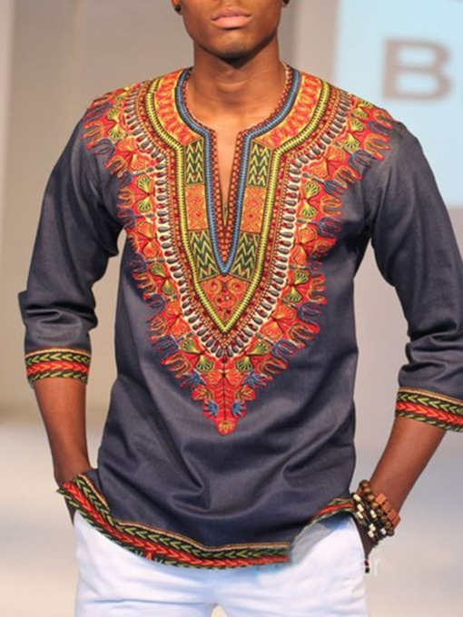 Print African Ethnic Style Pullover Men's T-shirt