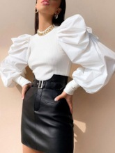 Patchwork Stand Collar Women's Sweater