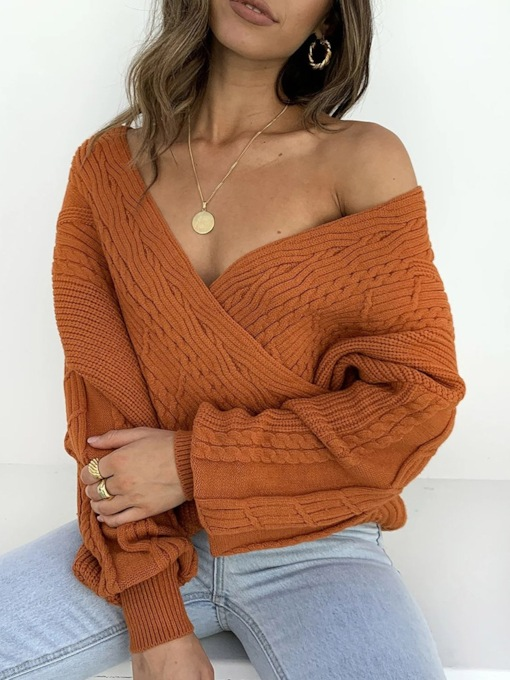 Thin V-Neck Women's Sweater