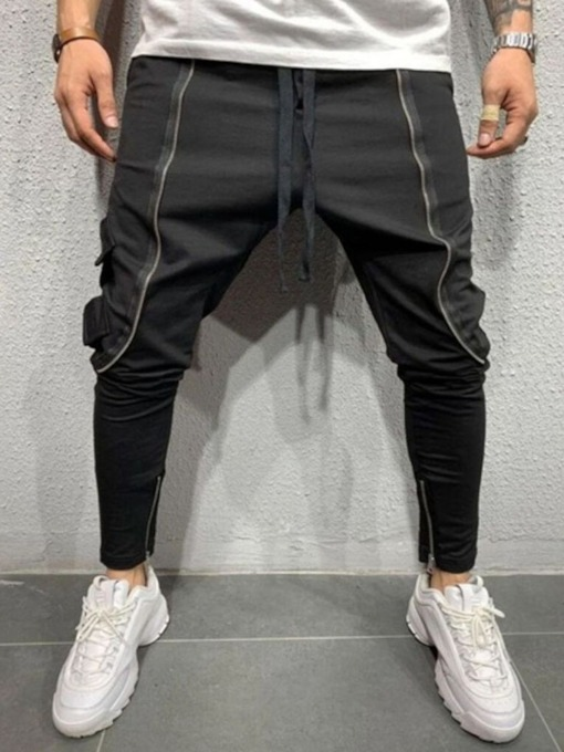 Lace-Up Pencil Pants Lace-Up Men's Casual Pants