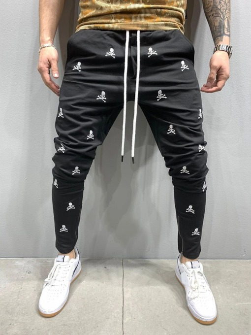 Skull Pencil Pants Casual Men's Casual Pants