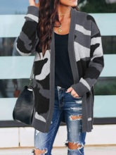 Patchwork Thin Fall Women's Sweater