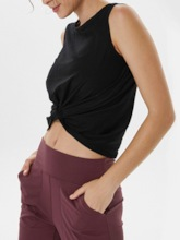 Solid Breathable Female Sleeveless Pullover Tops