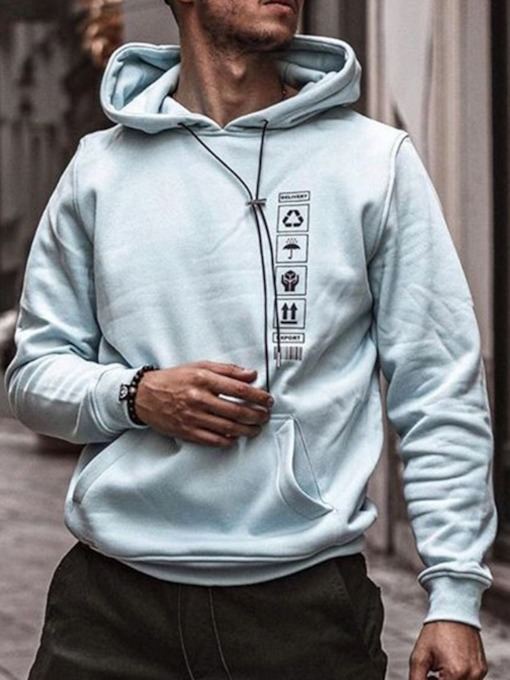 Print Pullover Fall Men's Hoodies