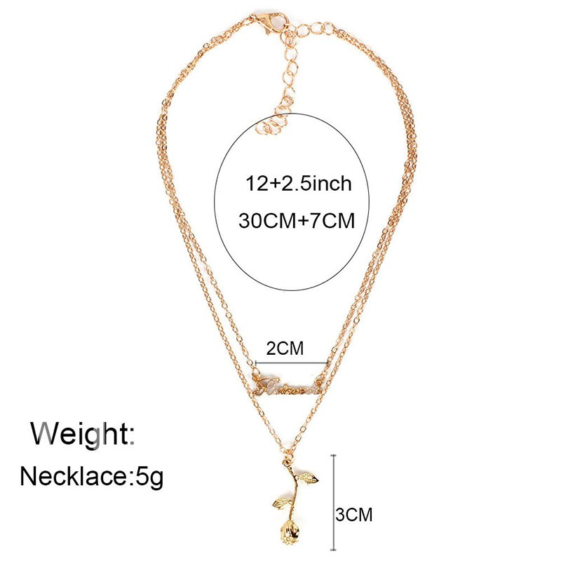 E-Plating Floral Chain Necklace Female Necklaces