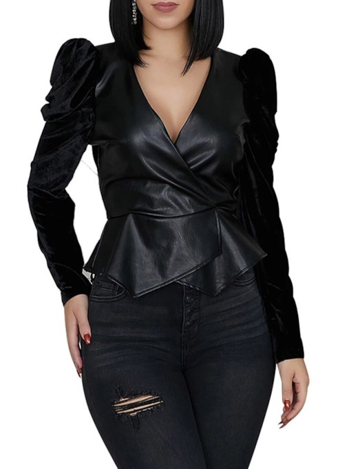 Standard Slim Female's PU Jacket