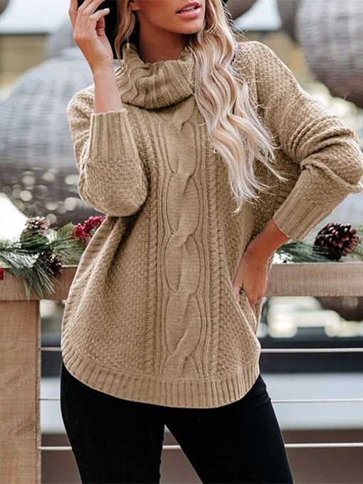 Regular Long Sleeve Female's Sweater