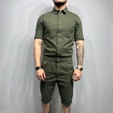 Mid-Calf Plain Casual Men's Jumpsuits/Overalls