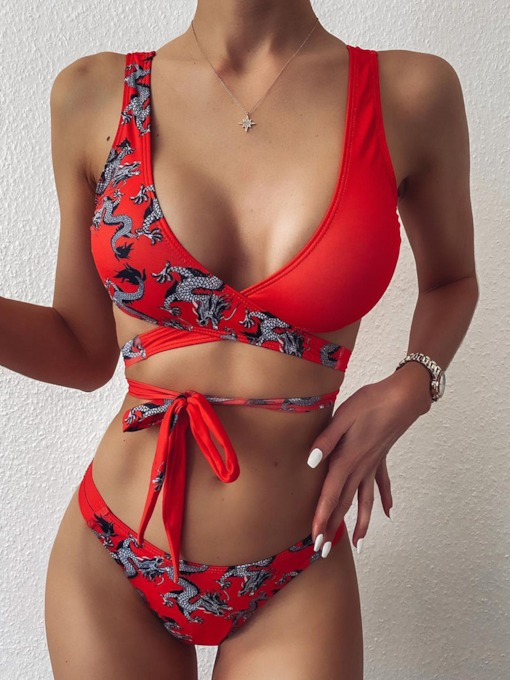 Animal Fashion Bikini Set Women's Swimwear