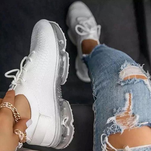 Low-Cut Upper Lace-Up Lace-Up Round Toe Flat With Sneakers