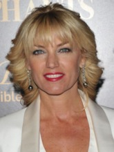 Women's Blonde Swept Back Wavy With Bangs Synthetic Hair Capless 120% 14 Inches Wigs