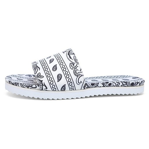 Flip Flop Flat With Slip-On Platform Geometric Slippers