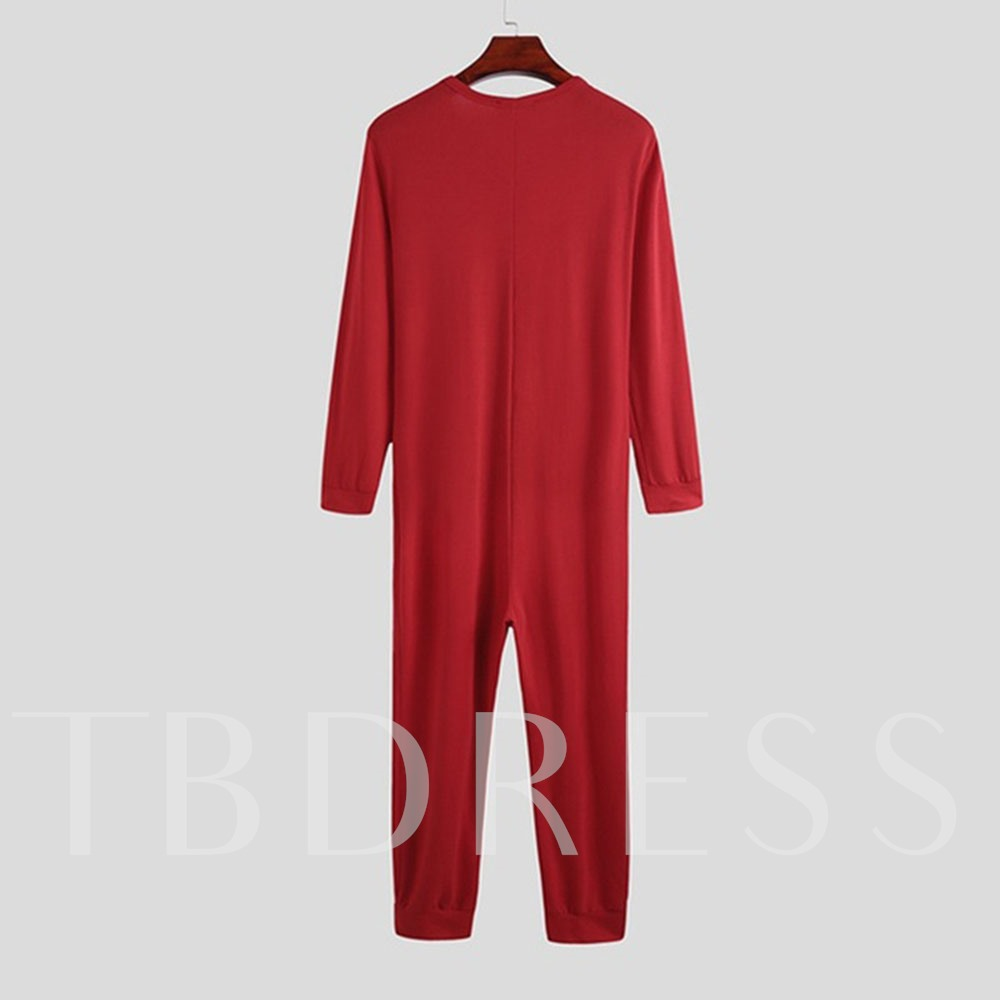 Full Length Pencil Pants Plain Men's Jumpsuits/Overalls