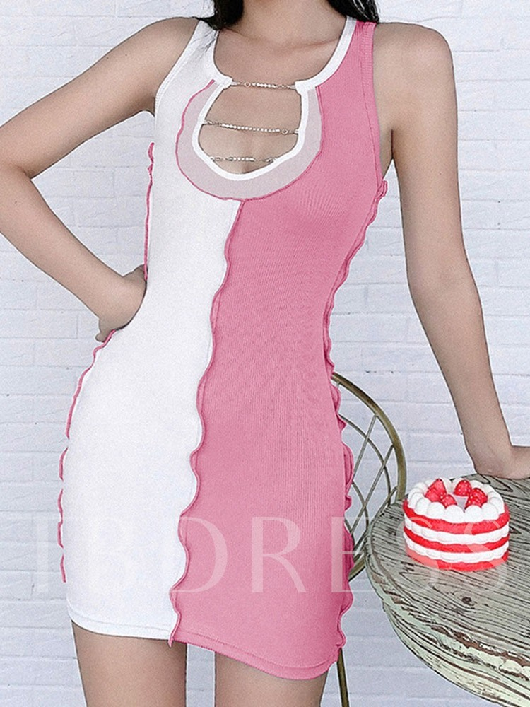 Anti-Sweat Polyester Color Block Running Sleeveless Female Tops