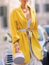 Mid-Length Single-Breasted Button Slim Women's Trench Coat