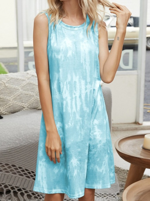 Gradient Single Casual Women's Nightgowns
