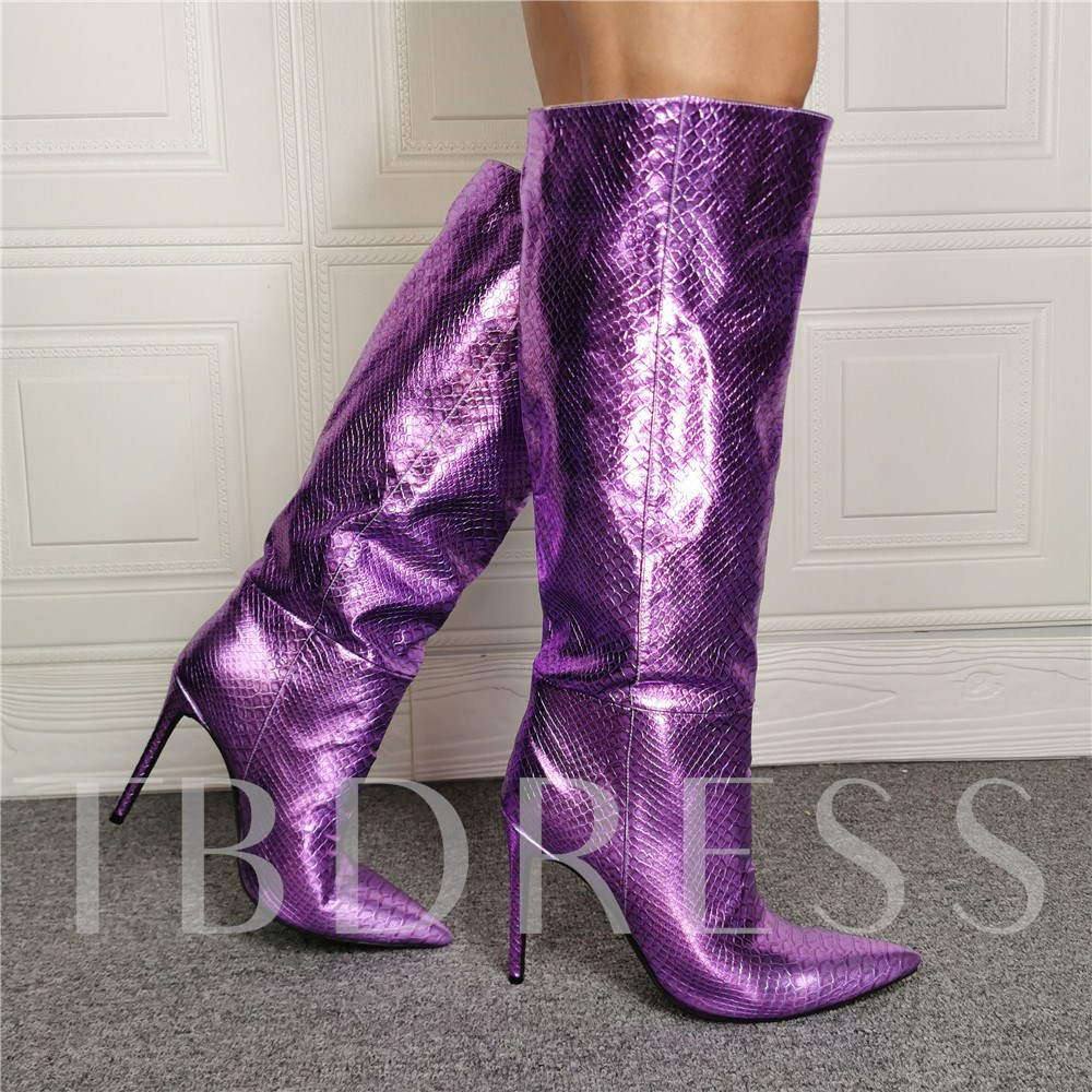 Slip-On Pointed Toe Boots