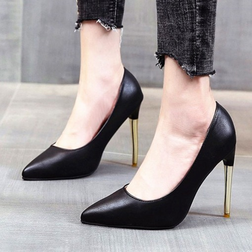 Stiletto Heel Pointed Toe Thread Slip-On England Thin Shoes