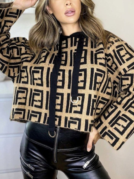 Print Thin Regular Standard Women's Sweater