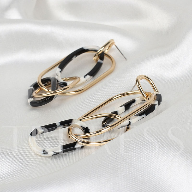 Fashion E-Plating Alloy European Party Earrings