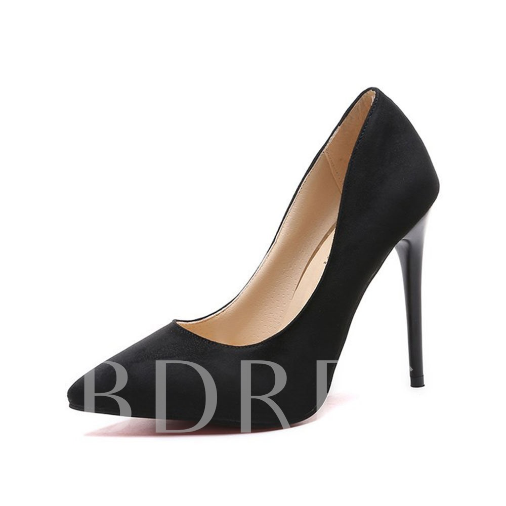 Slip-On Pointed Toe Thread Western Thin Shoes